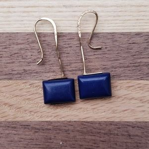 Jewelry - Costume blue and gold plated earring